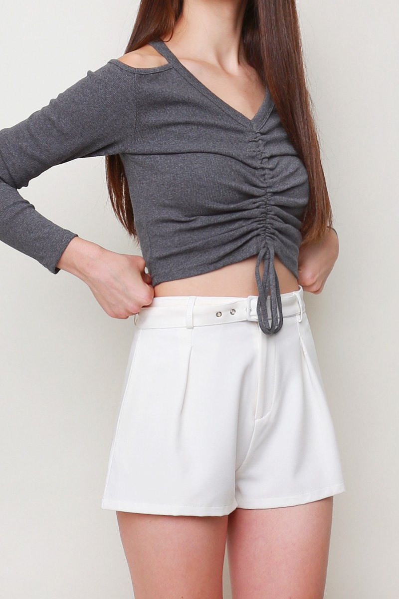 Enya Pleated Shorts Ivory