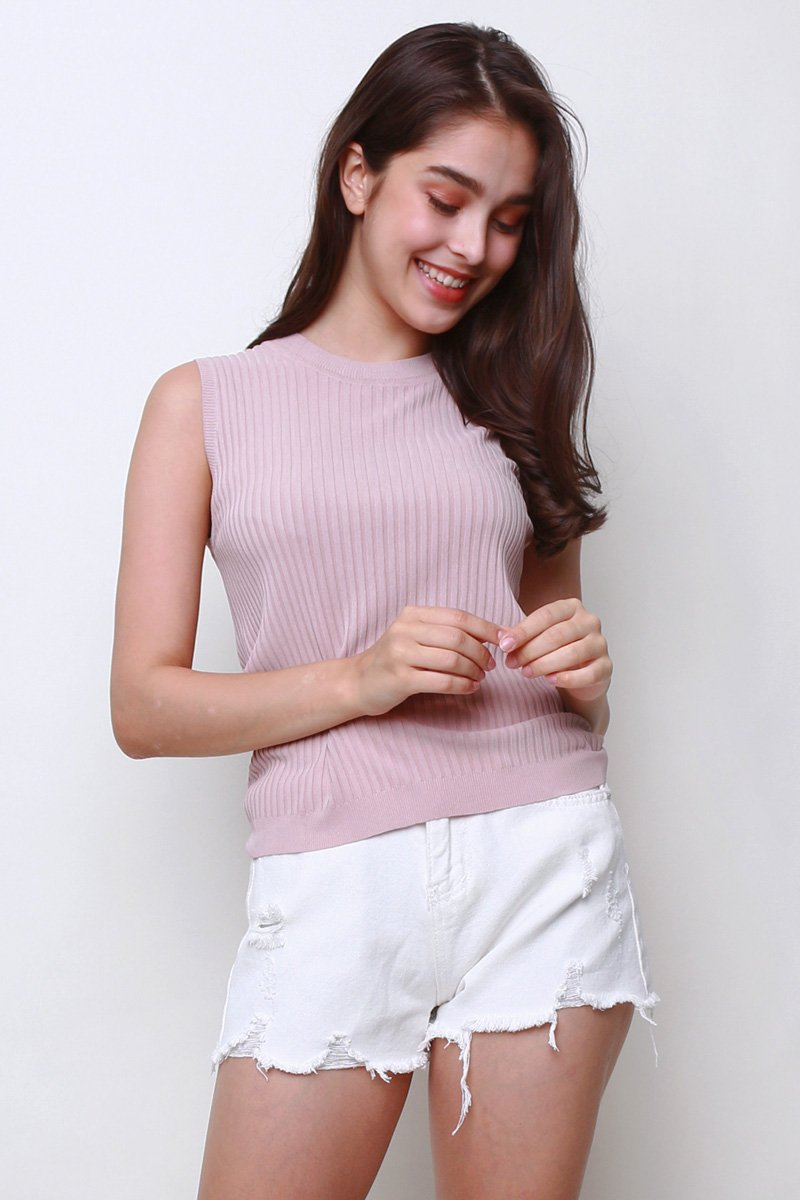 Elinor Knit Tank Blush