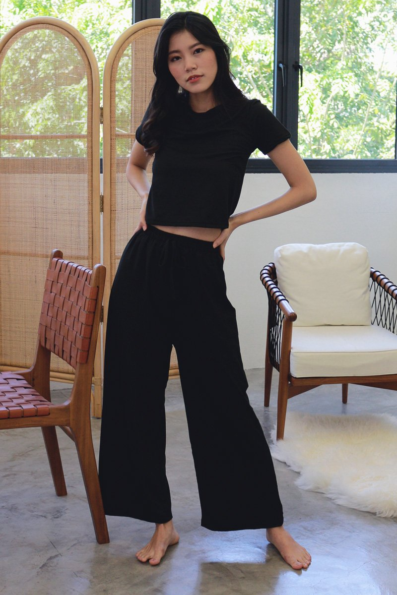 Evetta Sweatpants Lounge Set Black