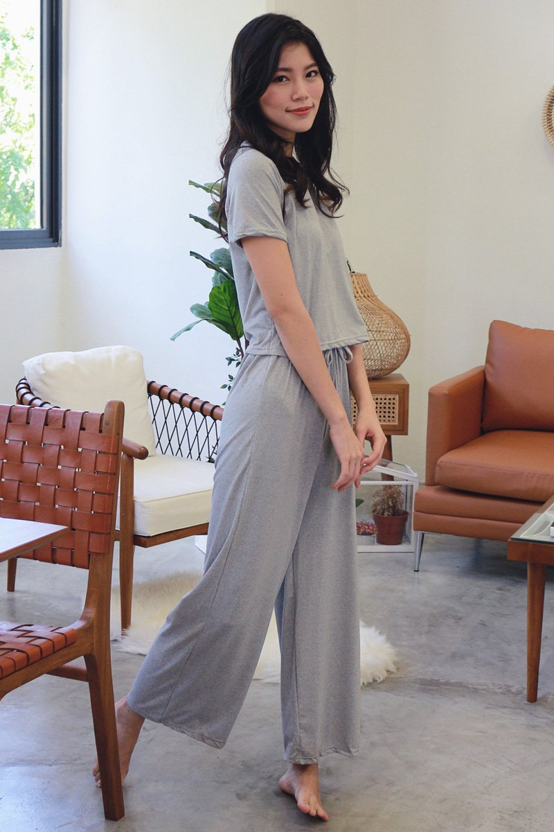 Evetta Sweatpants Lounge Set Grey