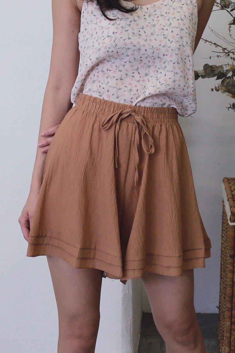 Ashby Flowy Shorts Caramel