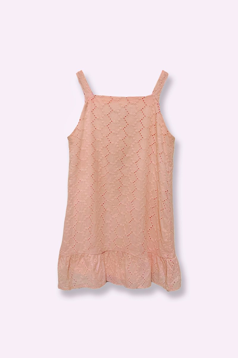 KIDS Savannah Eyelet Dress Blush