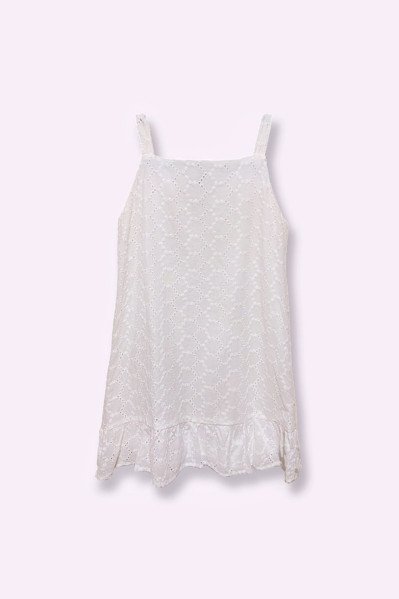 KIDS Savannah Eyelet Dress Ivory