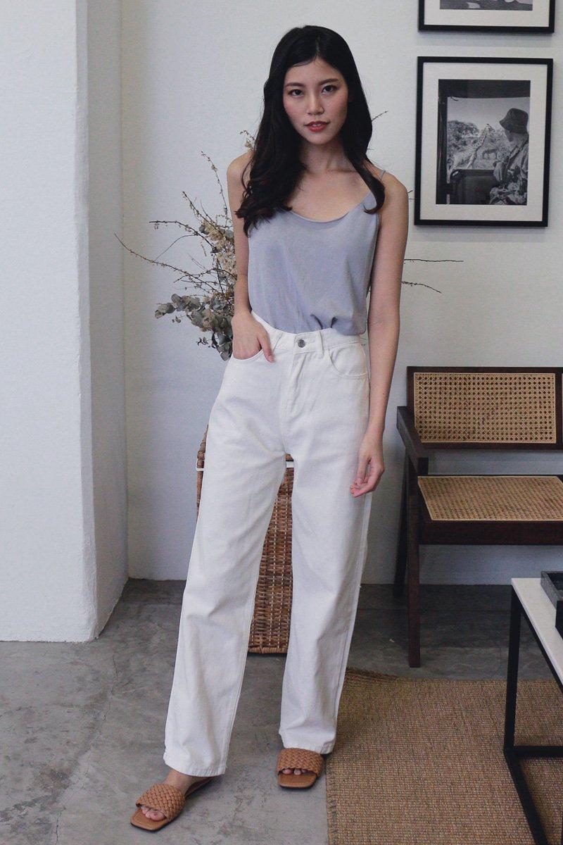 Keiko Wide Leg Denim Jeans Ivory