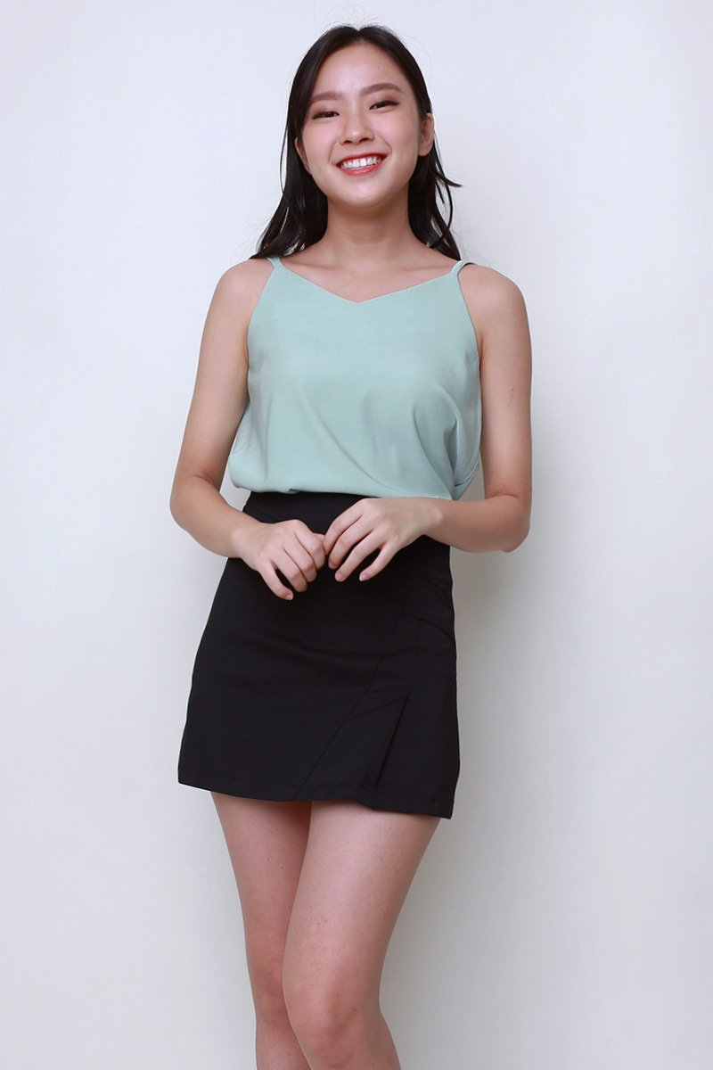 Gem Gathered Back Cami Top Mint