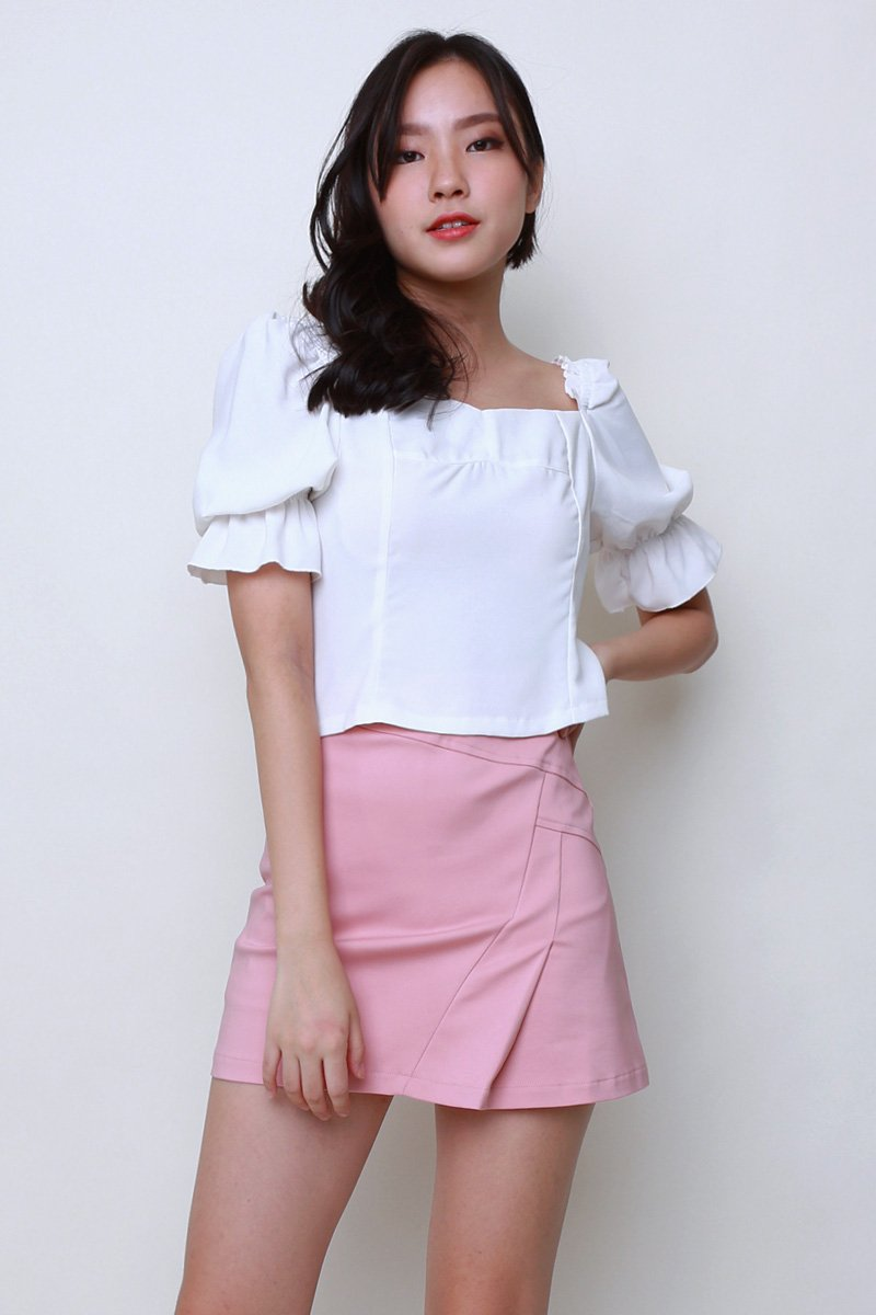 Deya Puff Sleeve Top Ivory