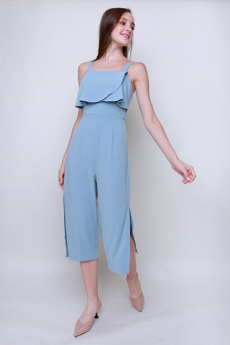 Min Layered Top Jumpsuit Sky