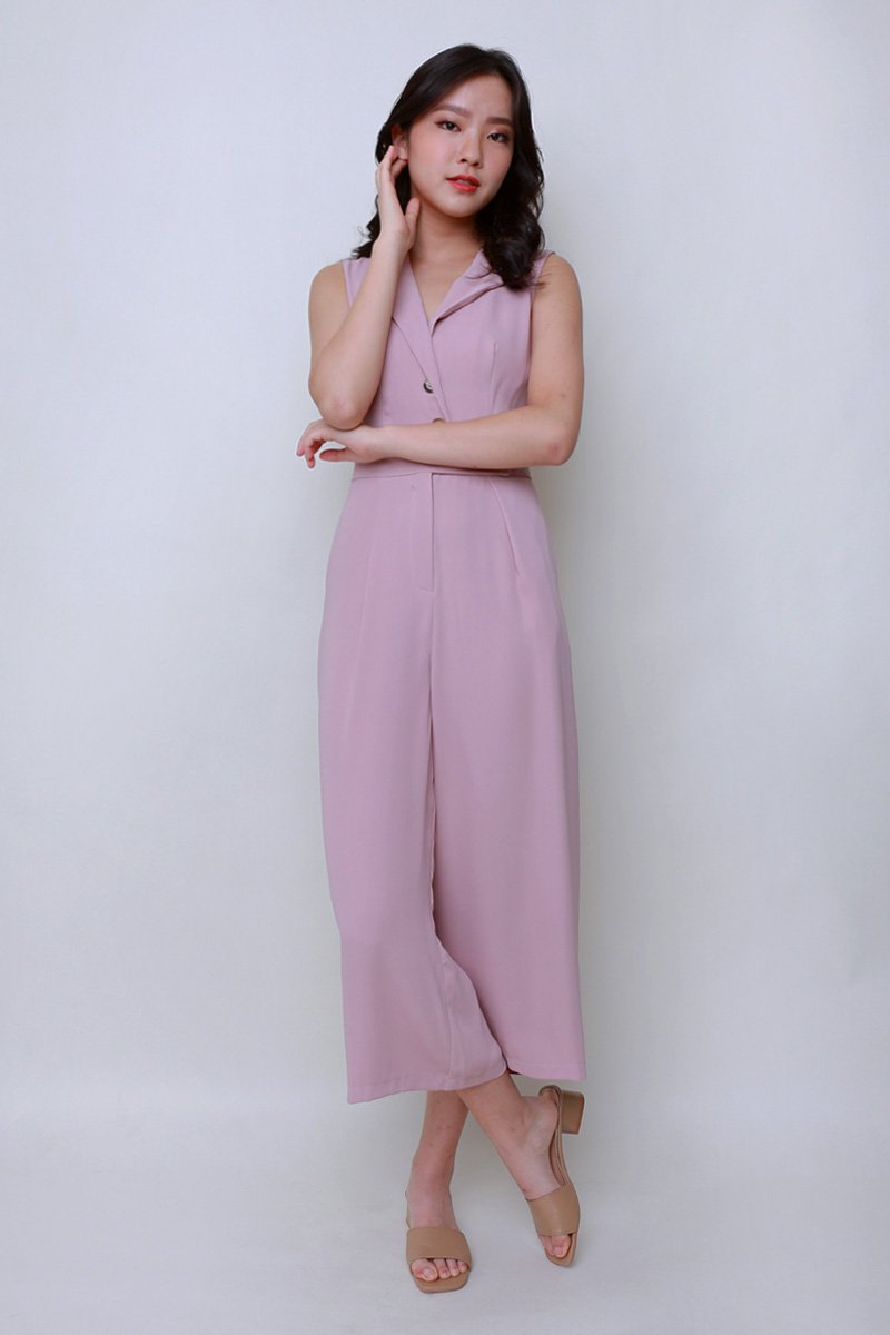Riley Tailored Jumpsuit Blush