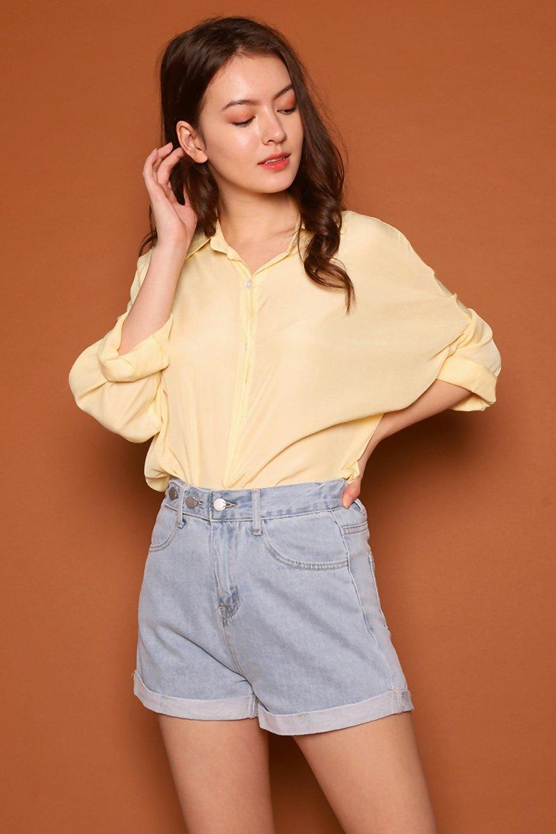 Aiden Oversized Chiffon Shirt Dandelion