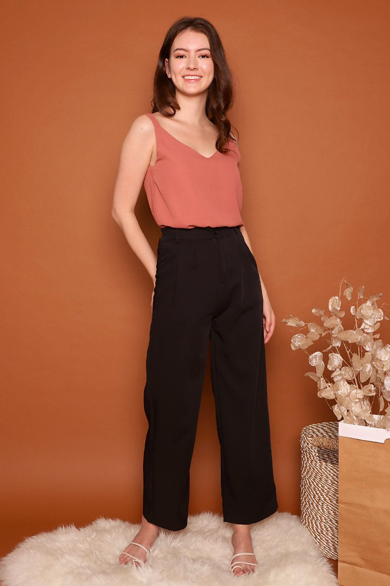 Pecola High Waist Flare Pants Black