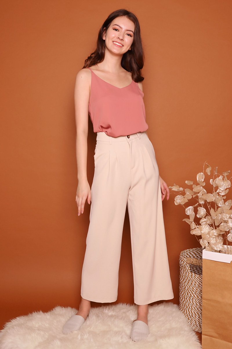 Sheila Wide Leg Pants Nude