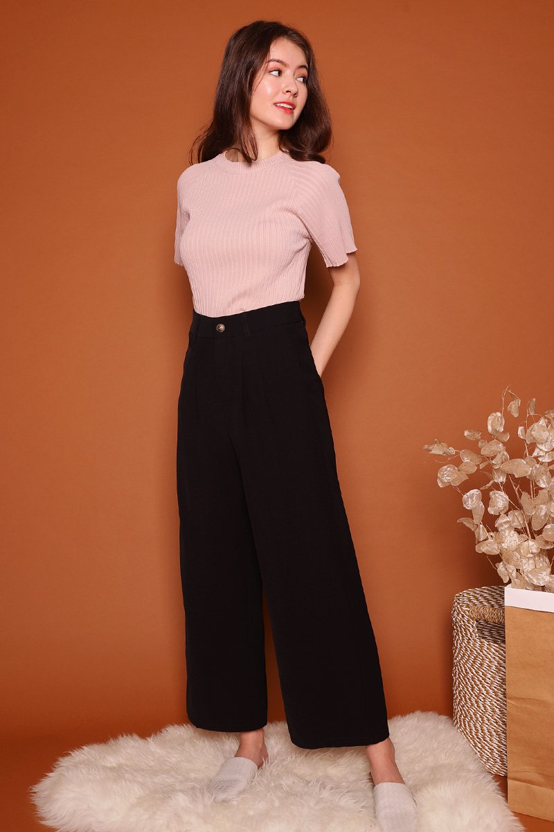 Sheila Wide Leg Pants Black
