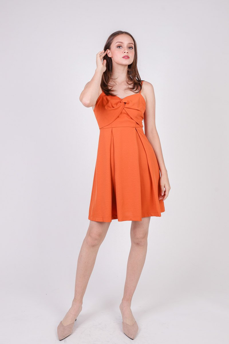 Avri Twist Front Dress Tangerine