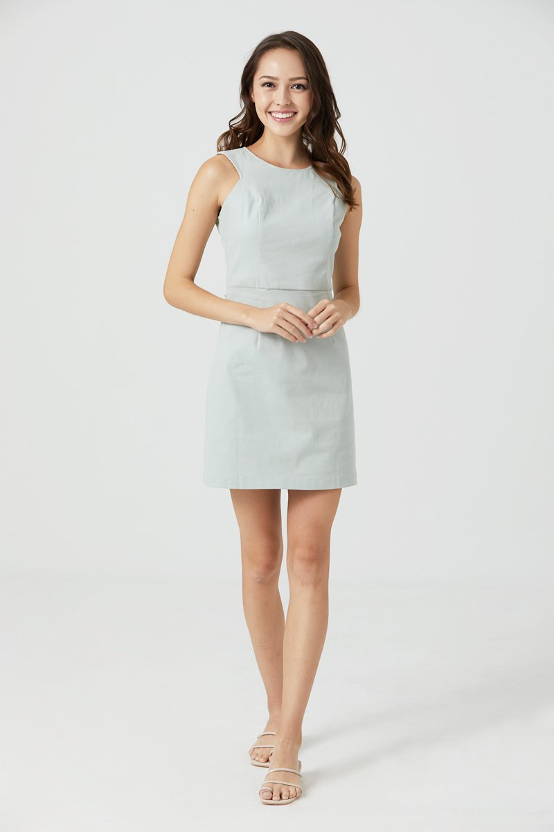 Dulcie Button Back Dress Mint