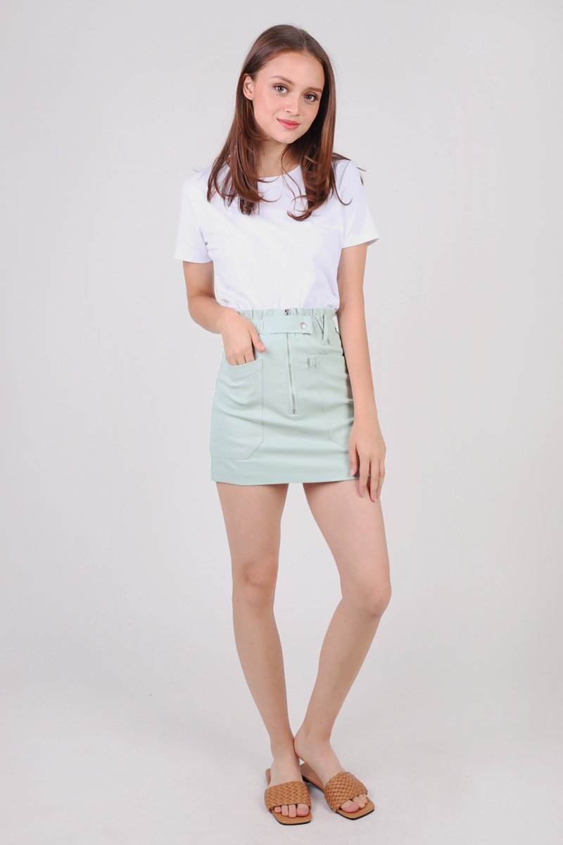 [BACKORDER] Edie Paperbag Skirt Mint