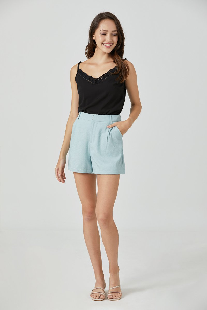 Ethel Stripe Tailored Shorts Mint
