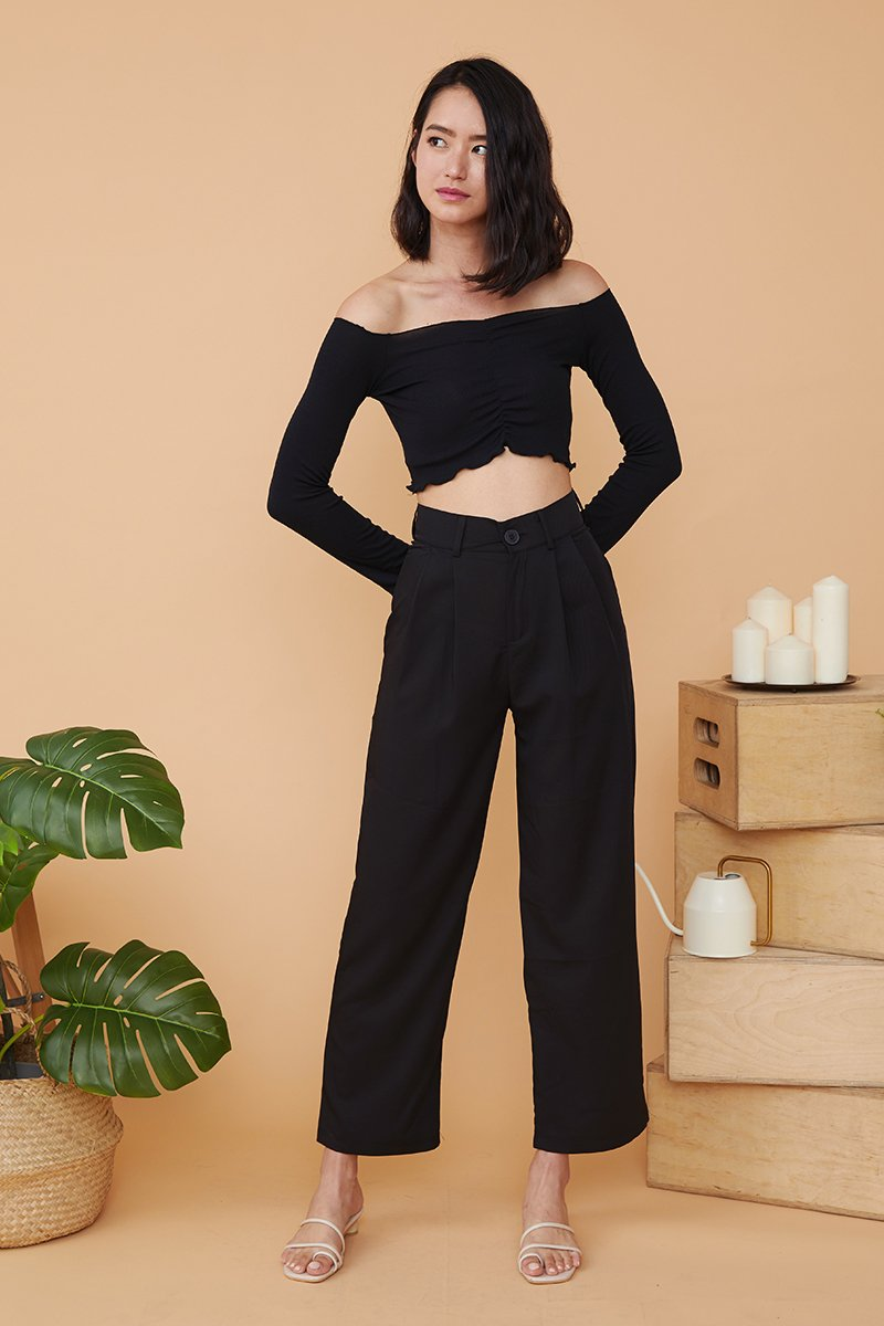 Trudy Straight Cut Pants Black