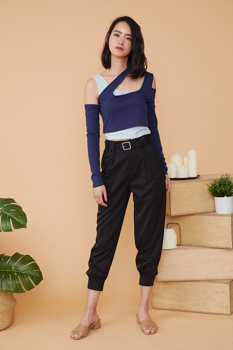 Jessi Cuffed Pants Black