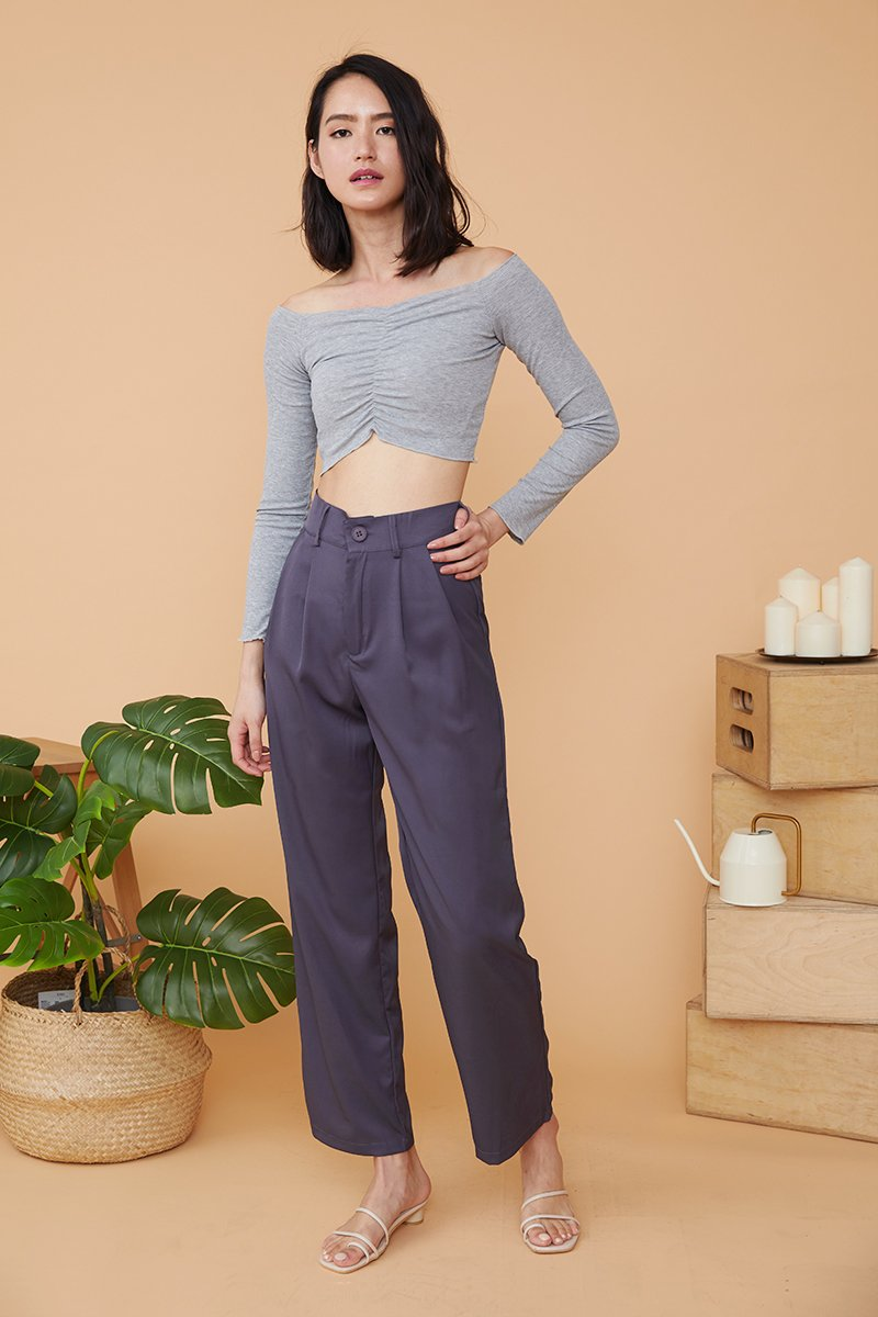 Trudy Straight Cut Pants Grey