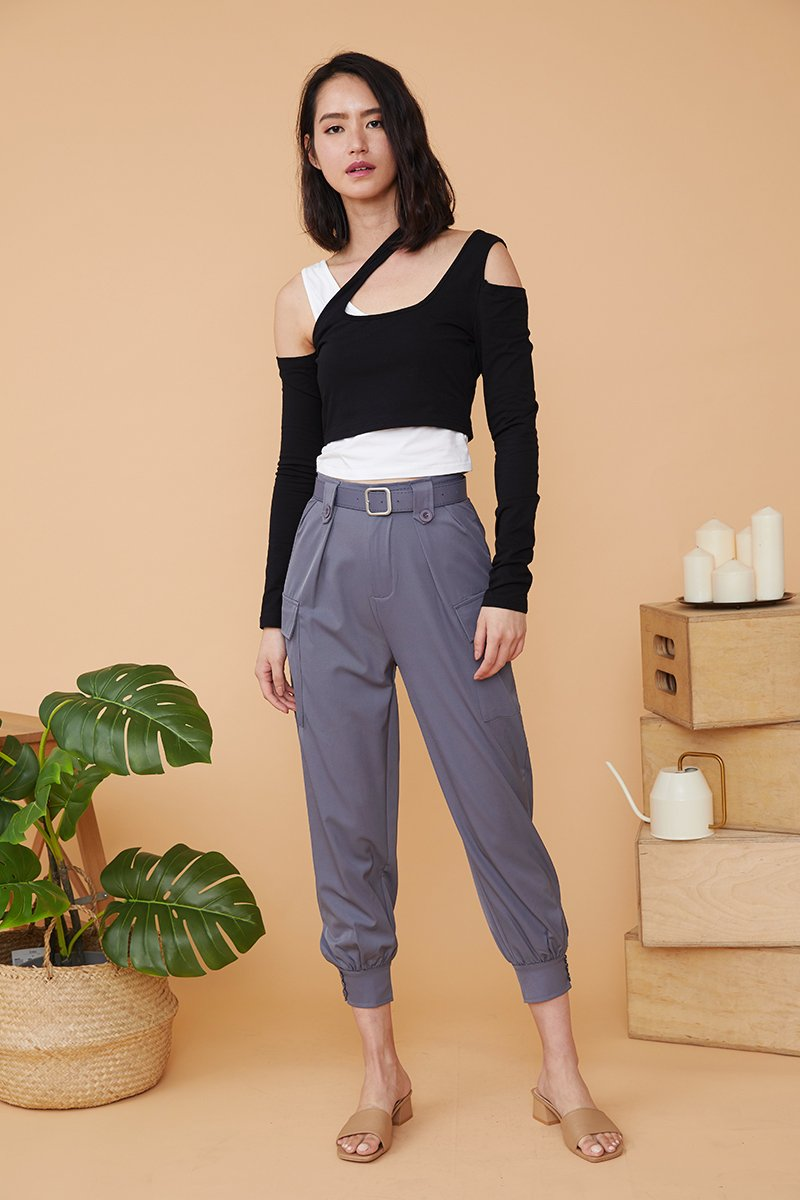 Jessi Cuffed Pants Grey