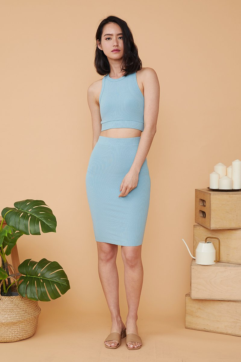 Eulalie Two Piece Dress Set Tiffany