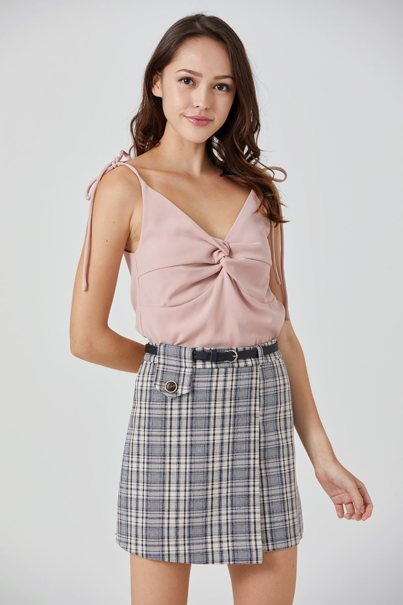 Eduina Twist Front Cami Top Blush