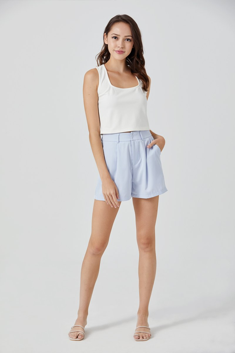 Delaney Tailored Shorts Sky