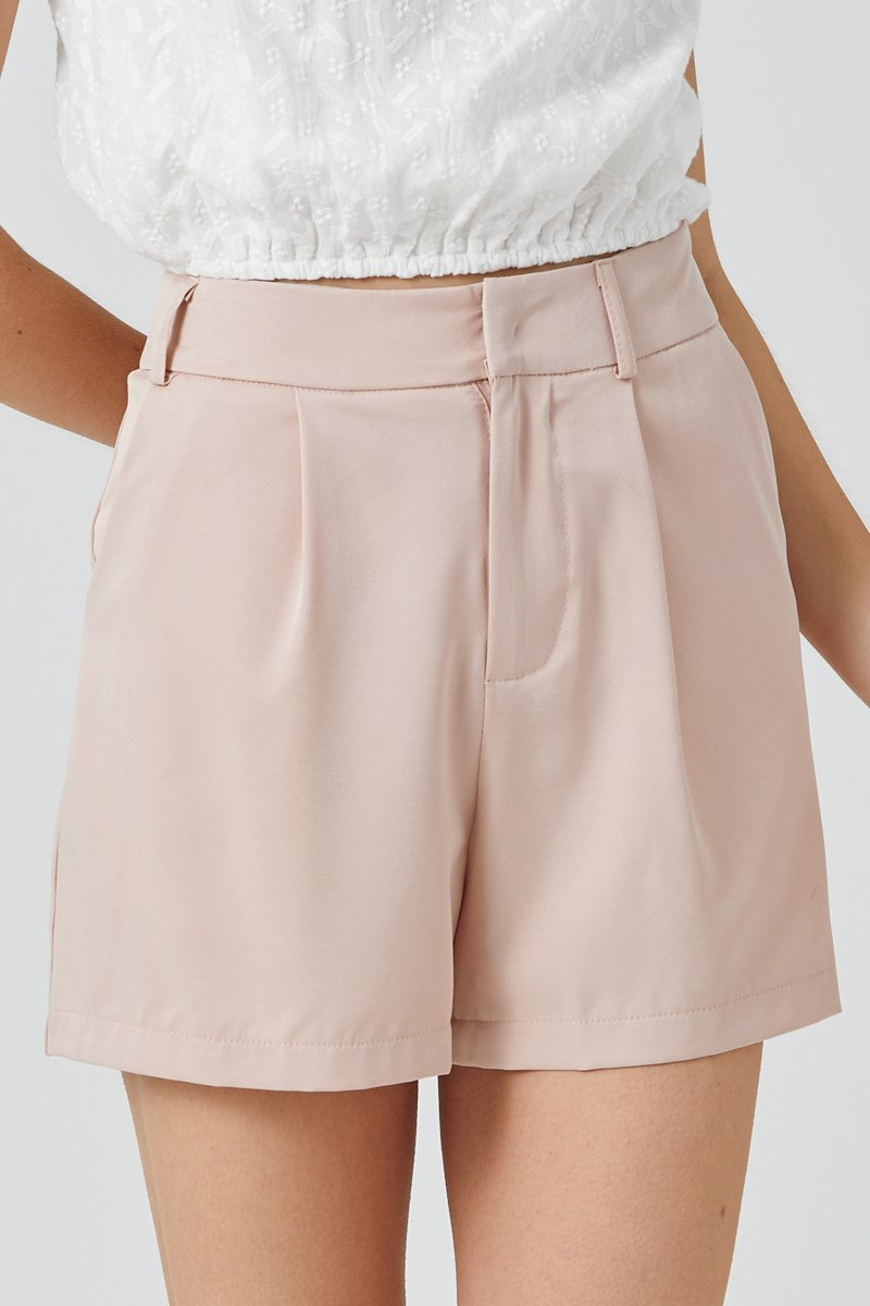 Delaney Tailored Shorts Blush