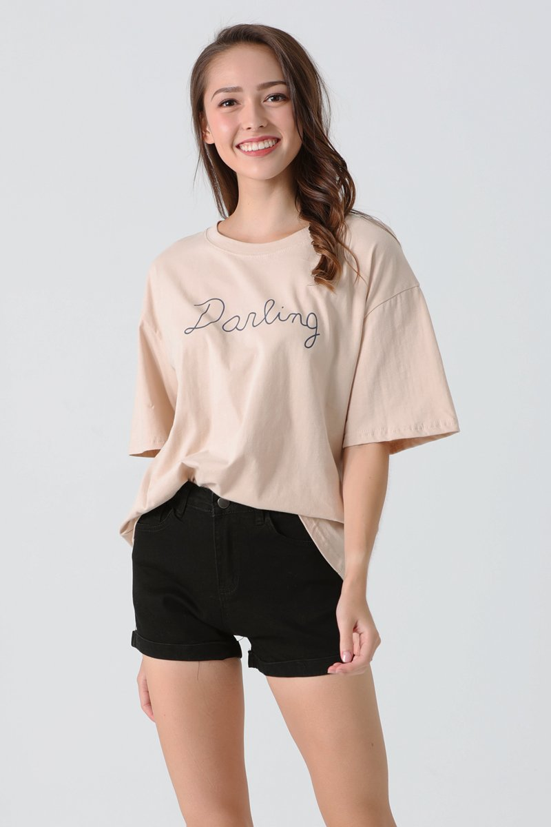 Darling Oversized Tee Sand