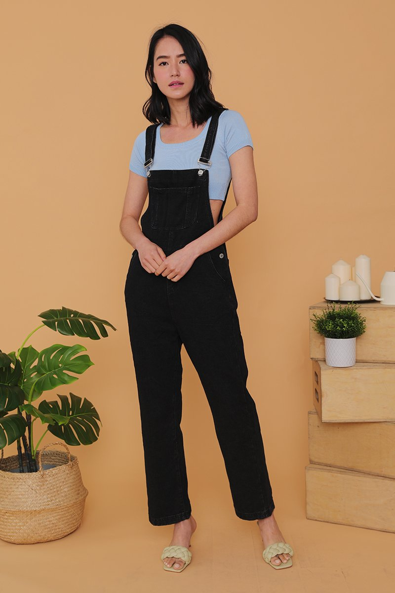 Lisa Denim Dungaree Black