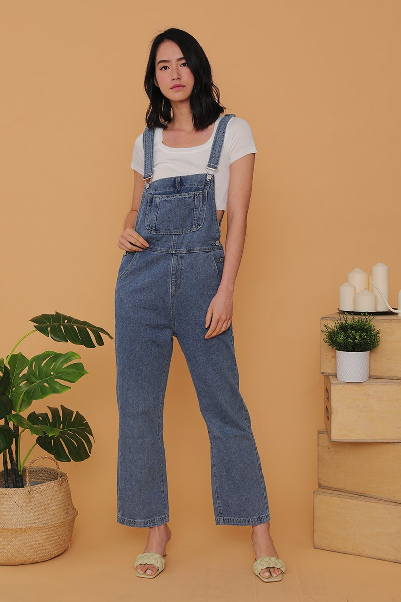 Lisa Denim Dungaree Dark Wash
