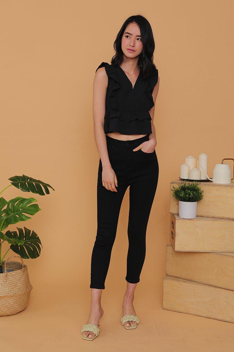 Enola High Rise Denim Skinny Jeans Black