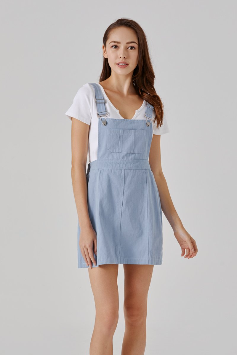 Brayden Pinafore Dress Sky