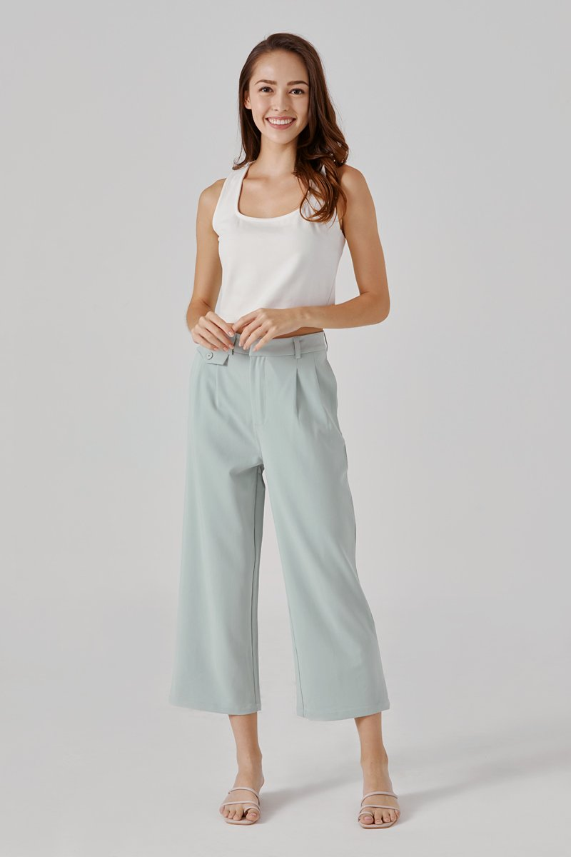 Kassie High Waisted Cropped Pants Mint
