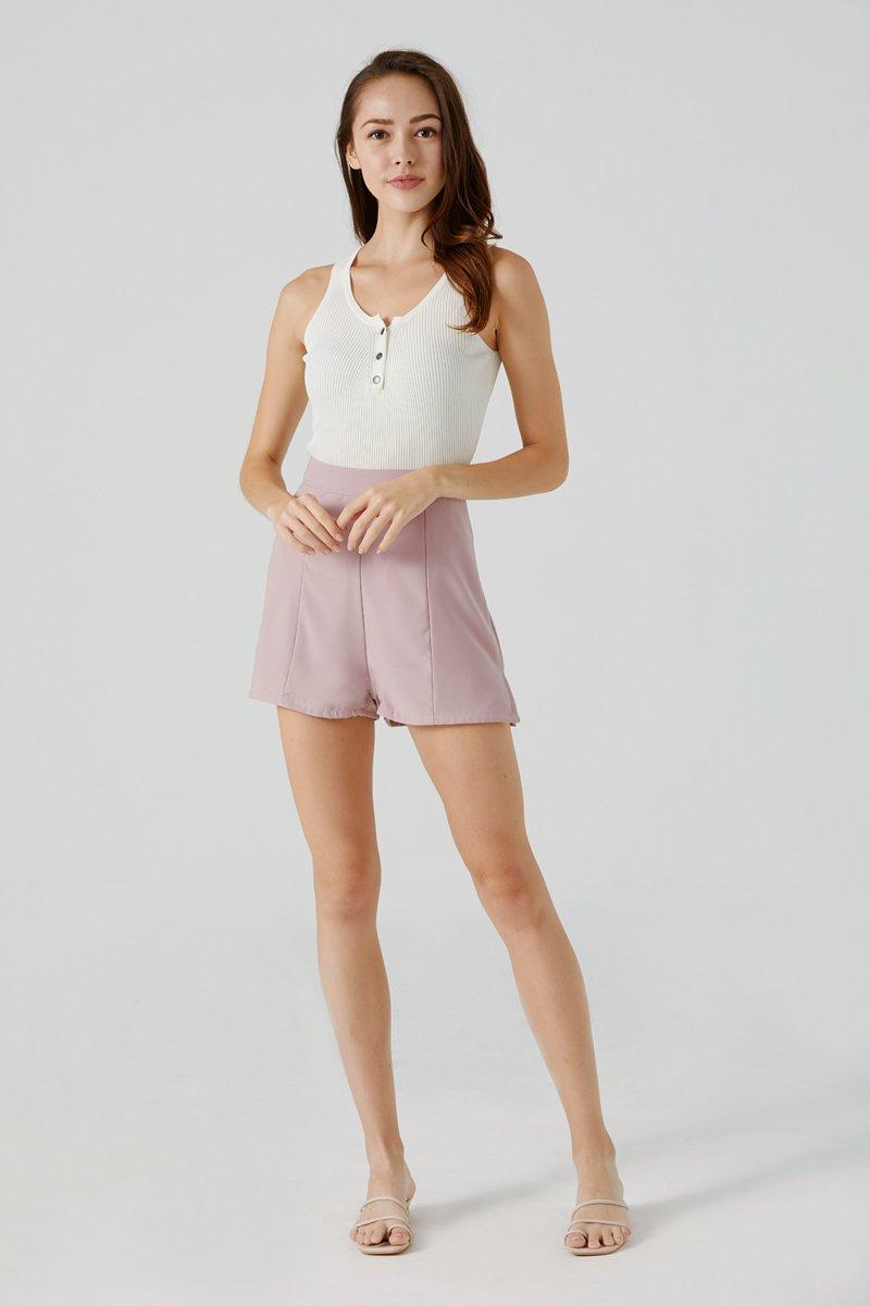 Sherly High Waist Shorts Blush