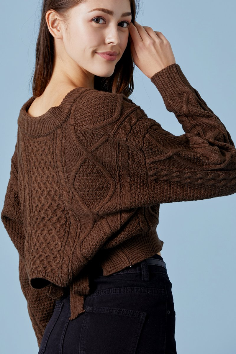 Austyn Tie Back Knitted Top Cocoa