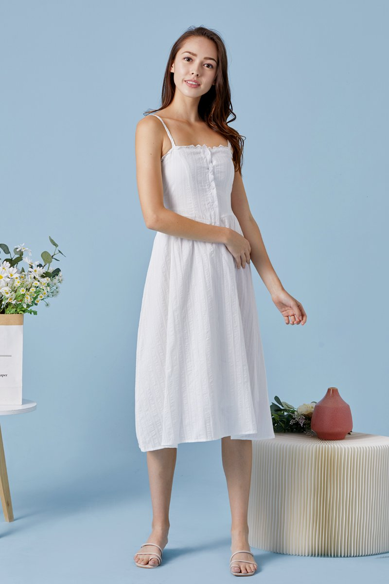Browyn Midi Sun Dress Ivory