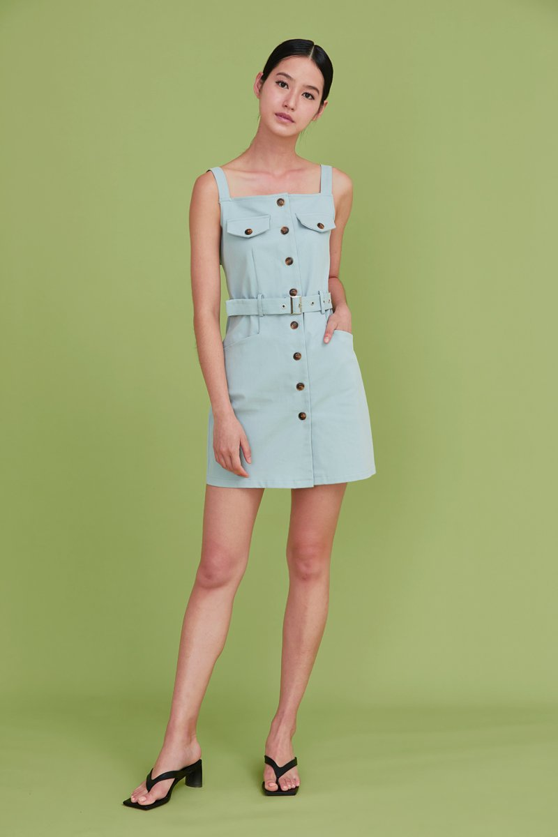 Wandella Utility Buckled Dress Sky