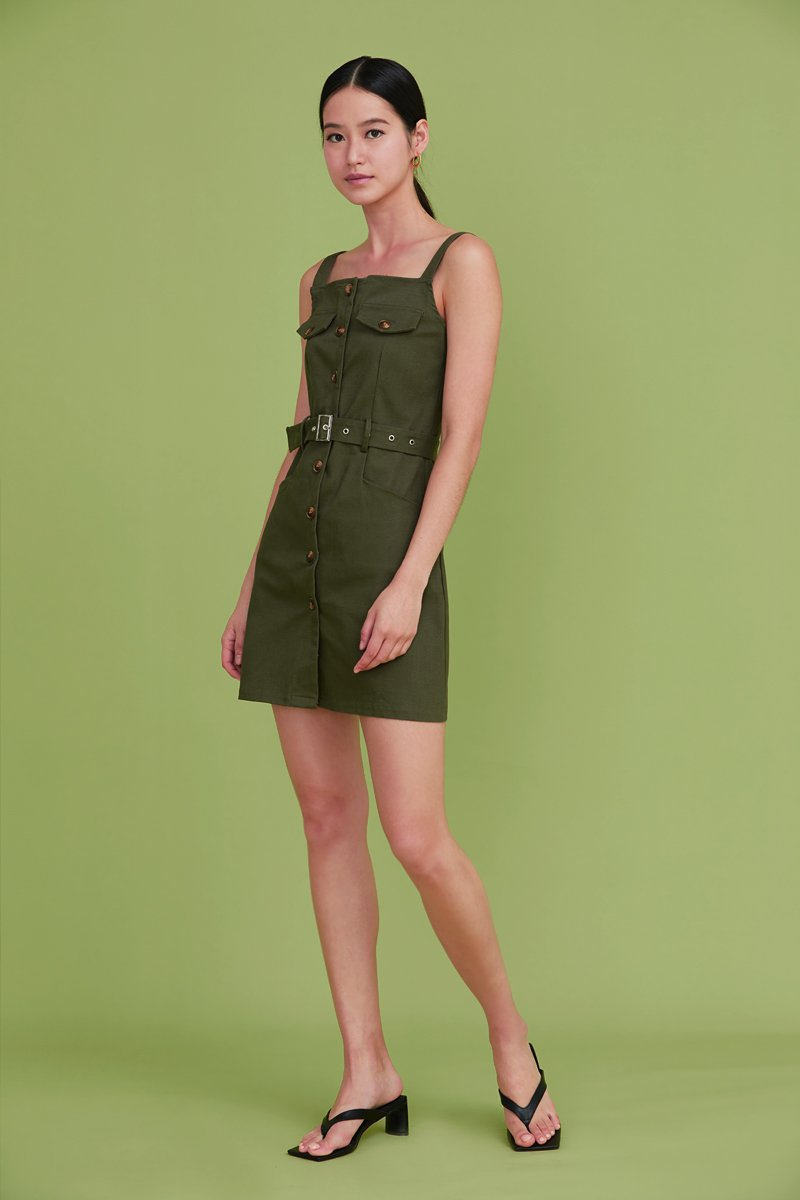 Wandella Utility Buckled Dress Olive