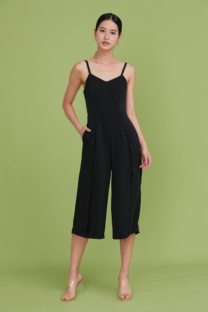 Viola Buttoned Jumpsuit Black