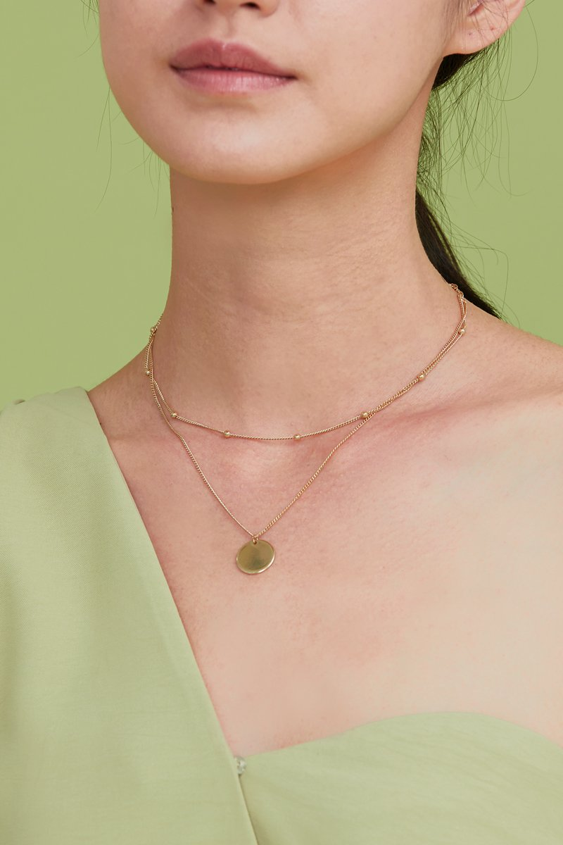 Estelle Layered Necklace Gold