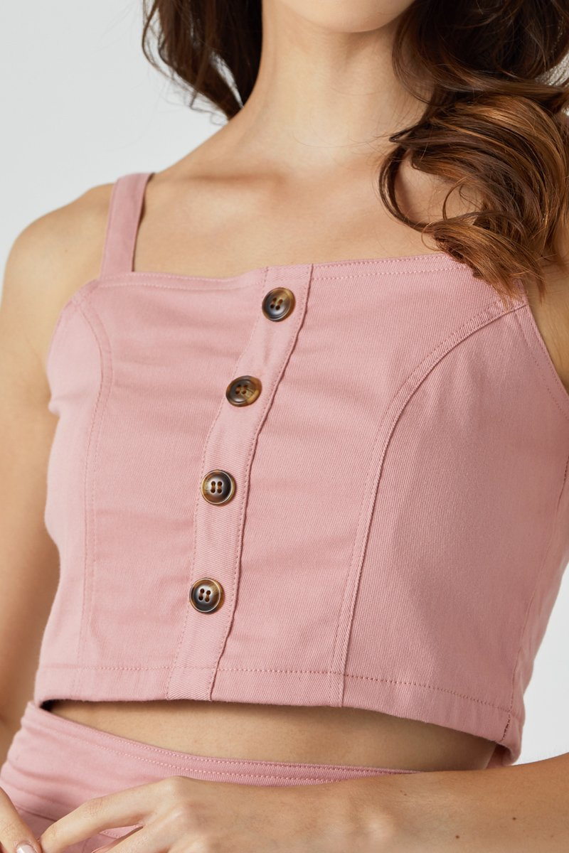 Andrey Turtle Shell Crop Top Blush