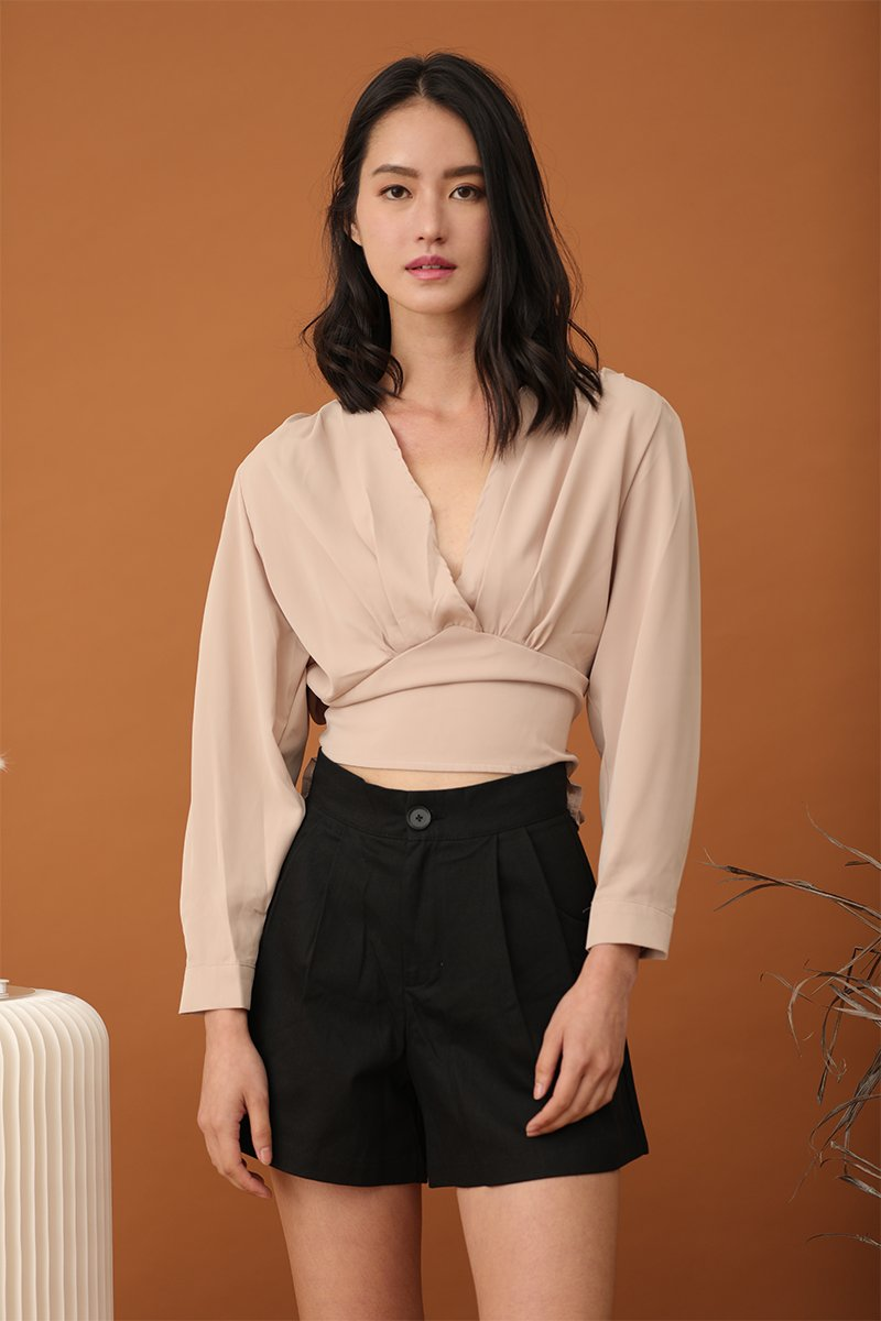 Vionne Self Tie Top Nude