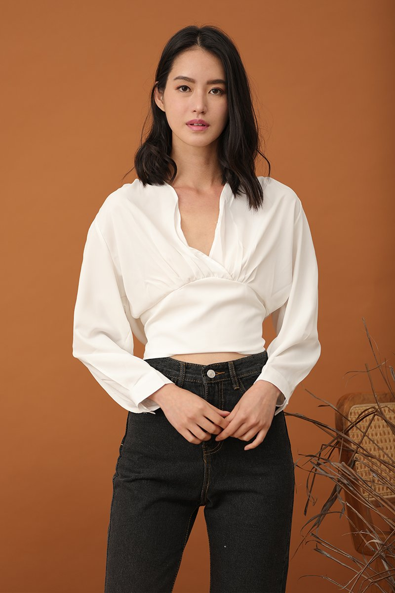 Vionne Self Tie Top Ivory