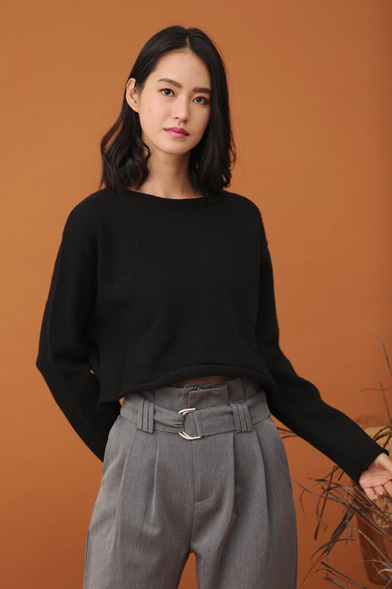Aerie Knit Sweater Black