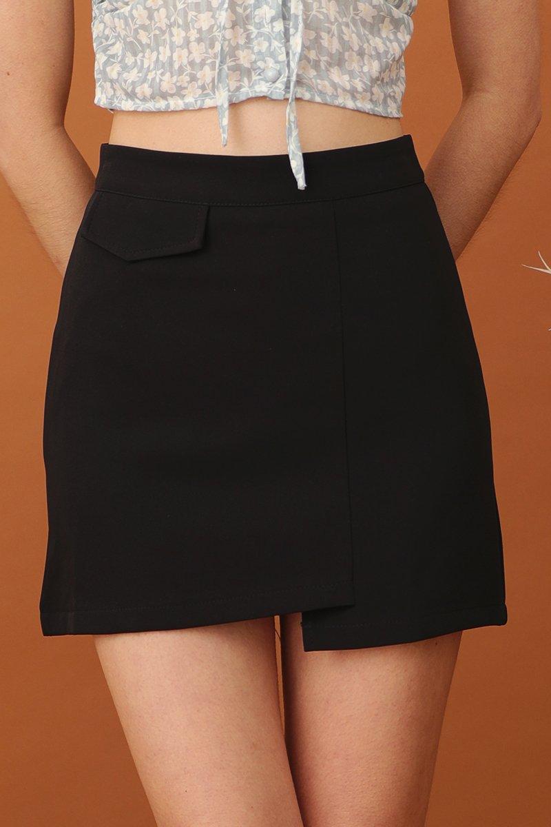 Akira Asymmetrical Skirt Black