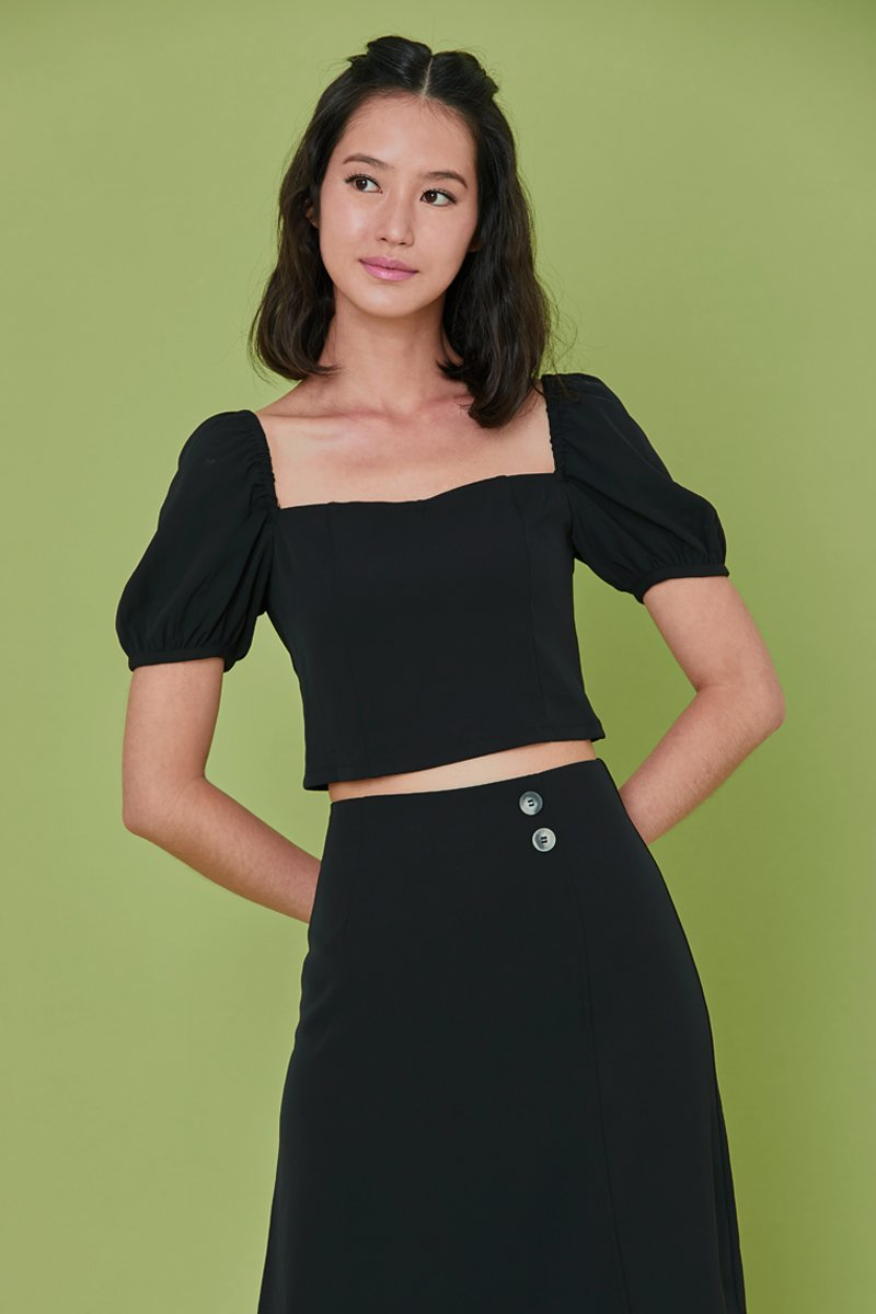 Fanny Crop Top Black