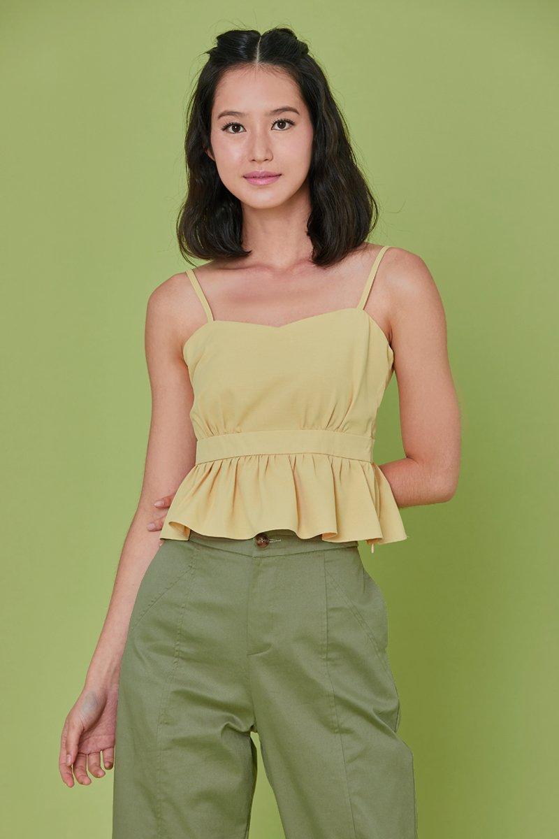 Aerin Ruffle Cami Top Daffodil