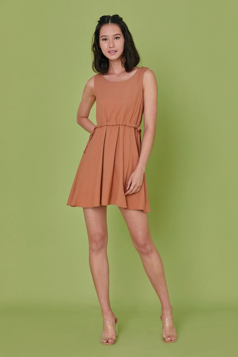 Beverline Shift Dress Caramel