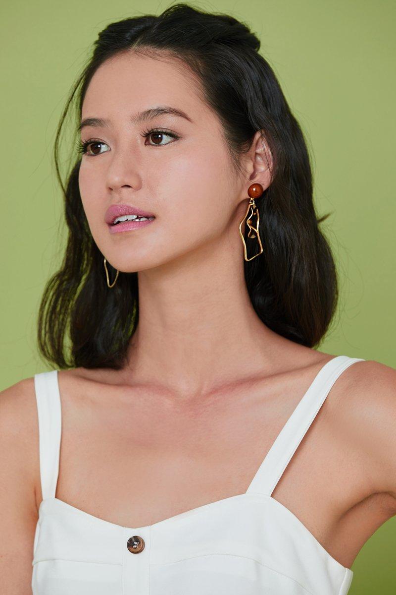 Addison Geometric Earrings Gold